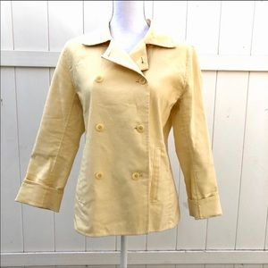 Eileen fisher size S yellow buttons jacket